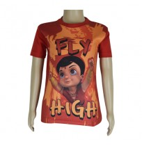 Super  Bheem Sublimation T-shirt- Red
