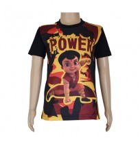 Super  Bheem Sublimation Black T-shirt