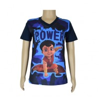 Super  Bheem Sublimation T-shirt- Navy Blue