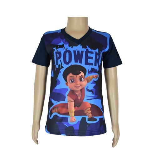 Super  Bheem Sublimation T-shirt- Navy Blue