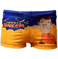 Chhota Bheem Boys Swim Shorts - Blue & Yellow