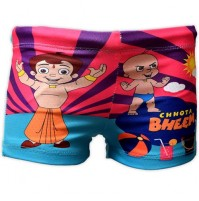 Chhota Bheem Boys Swim Shorts - Pink & Blue