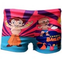 Chhota Bheem Boys Swim Shorts - Pink & Blue