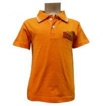Boys Polo T-Shirt - Orange
