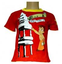 Chhota Bheem and Arjun Reversible T- Shirt - Red and Yellow