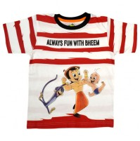 Chhota Bheem T Shirt - Red & white