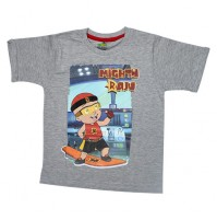 Mighty Raju T Shirt - Grey Melange