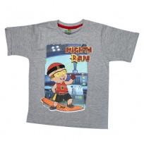 Mighty Raju T Shirt - Grey Melange