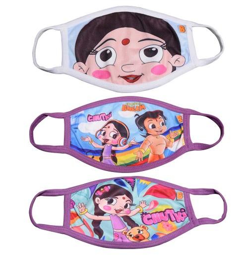 Chhota Bheem & Chutki Face Masks for Kids