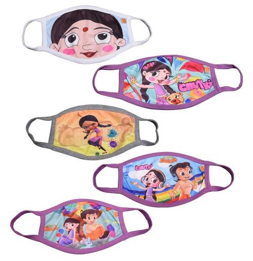 Chhota Bheem & Chutki Fun Face Masks for Kids