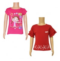 Chutki Tops Combo Red and Magenta