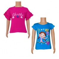 Chutki Tops- Combo Magenta and Teal Blue