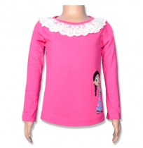 Chutki Full Sleeve Top - Azlalea Pink