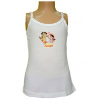Chhota Bheem Girls Vest - White