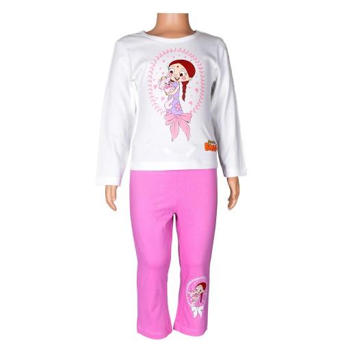 Chutki Night Suit White and Pink