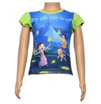 Girls Sublimation Top - Blue and Green