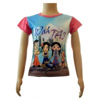 Girls Sublimation Top - Pink and Blue