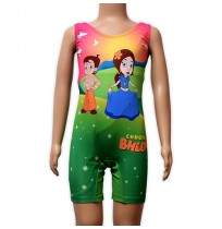 Chhota Bheem Girls Swimwear - Green