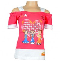 Chhota Bheem Girls Top - Fuchisa