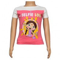 Chutki Printed Girls Top - Pink