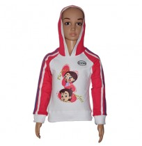 Chhota Bheem Hoodies - Fuchisa and White