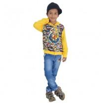 Chhota Bheem Hoodie - Yellow