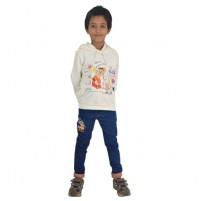 Chhota Bheem Hoodie - White