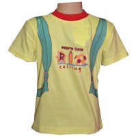 Mighty Raju Rio Calling T - Shirt  - Yellow