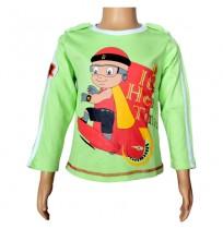 Mighty Raju Full Sleeve T-Shirt - Lime Green