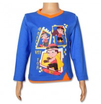 Mighty Raju Full Sleeve T-Shirt - Directoire Blue