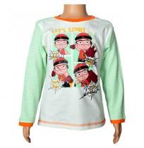 Mighty Raju Full Sleeve T-Shirt - Snow White