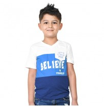 Chhota Bheem - Believe In Yourself Half sleeve T-shirt-White and Blue