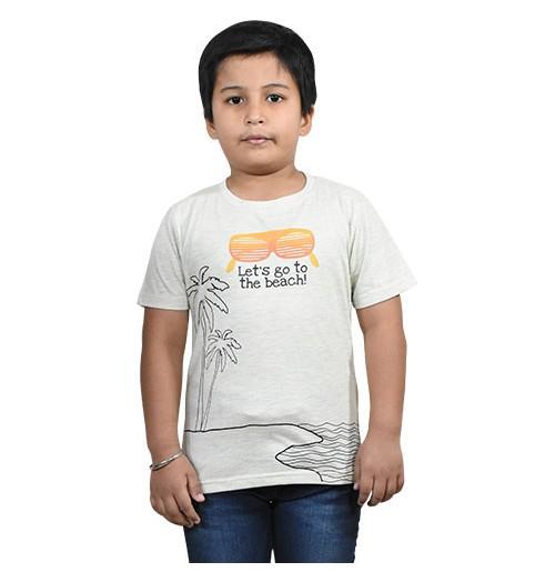 Chhota Bheem - Lets Go to the Beach Half Sleeve T-Shirt - Yellow