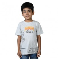Chhota Bheem - Lets Go to the Beach Half Sleeve T-Shirt - Grey Melange