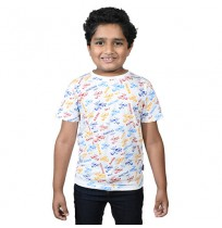 Chhota Bheem - Racing No 1 Half Sleeve T-Shirt - White
