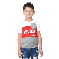 Chhota Bheem - Believe In Yourself Half sleeve T-shirt-White