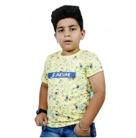 Chhota Bheem - Be Awesome Half Sleeve T-Shirt -Light Yellow