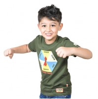 Chhota Bheem - My Mood Today Half Sleeve T-Shirt - Green