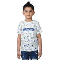 Chhota Bheem - Be Awesome Half Sleeve T-Shirt - White