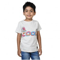Chhota Bheem Be Cool T-shirt - Light Grey Melange
