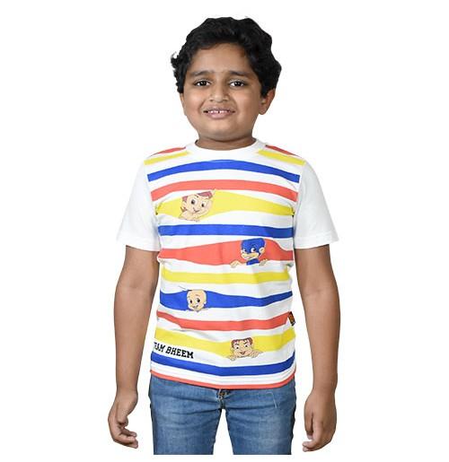 Chhota Bheem - Team Bheem T-shirt - White