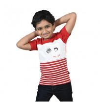 Chhota Bheem - Let's Take Selfie T-shirt - White and Red