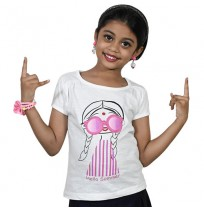 Chutki Hello Summer Half Sleeve T-Shirt - White