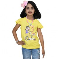 Chutki Love To Dance Half Sleeve T-Shirt - Yellow