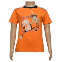 Chhota Bheem Printed Boys T-Shirt - Orange