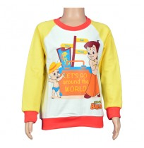 Chhota Bheem Sweat Shirt - Yellow and White