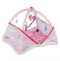 Chhota Bheem Baby Bedding Set with Mosquito Net Pink