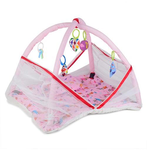 Chhota Bheem Baby Bedding Set with Mosquito Net Pink