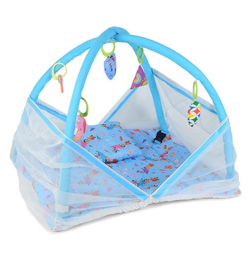 Chhota Bheem Baby Bedding Set with Mosquito Net Blue