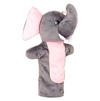 Elephant Hand Puppet Plush Grey